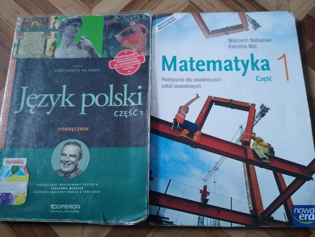 Książki do zawodówki język polski matematyka
