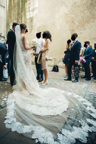 Sprzedam suknię ślubną Atelier Pronovias Verna+długi welon