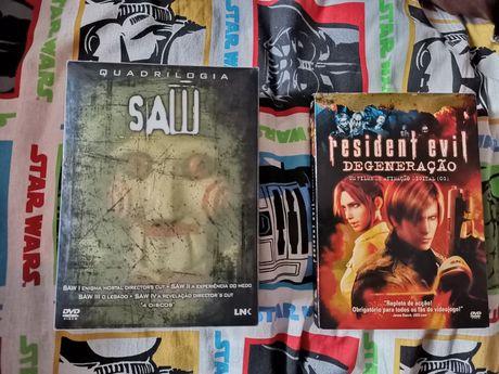 filmes saw e resident evil