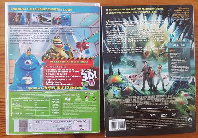 DVD em 3D animacao e aventura