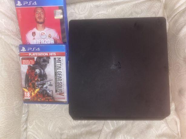 Consola ps4 Slim 1 TB como nova + jogos