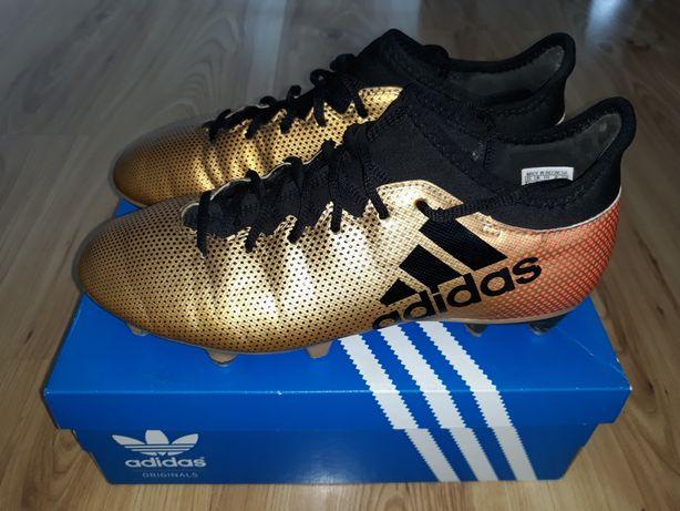 Buty Korki 40 2/3 Adidas X 17.3 SG Gold 25 cm