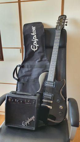 Guitarra elétrica Epiphone Les Paul Special-II LE Black + amplificador