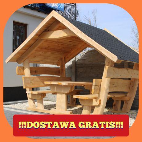 Altana,Domek góralski, meble ogrodowe, stół, ławka. dostawa gratis