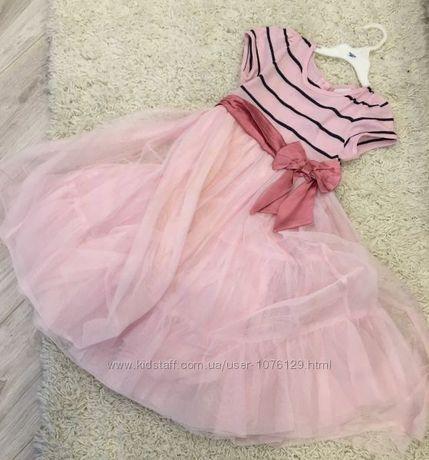Нарядное длинное комбинированное платье NEXT на 5-7 лет