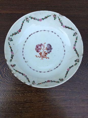 Prato em porcelana chinesa do séc XVIII 14 cm Companhia das Índias