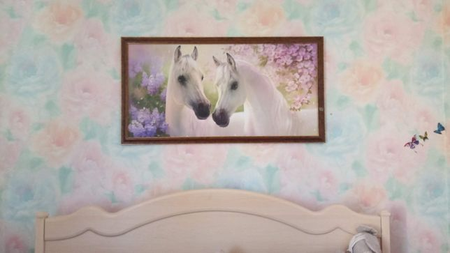 Большая картина с лошадьми
