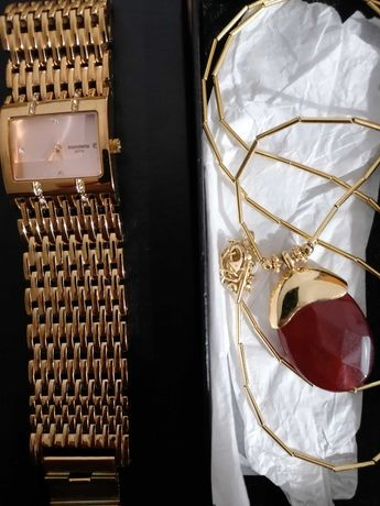 Relógio pulseira Mondaine novo + colar