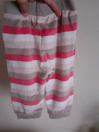 Welurowe spodnie dresowe Cool Club dla dziewczynki
