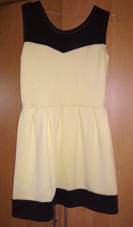 Cytrynowa sukienka i żakiet_S_jak nowe