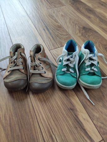 Skórzane buty roz 22 dwie pary