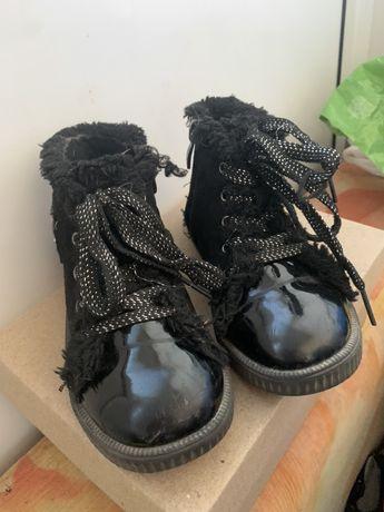 Детские ботинки на осень/весну замш 28 размер
