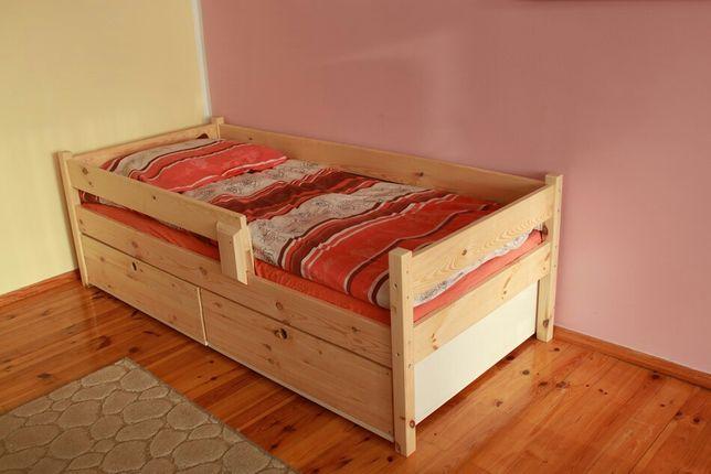 Łóżko sosnowe 180x80 + materac + szuflady