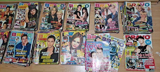 Duży zesta 300 szt.magazyn BRAVO Stare roczniki