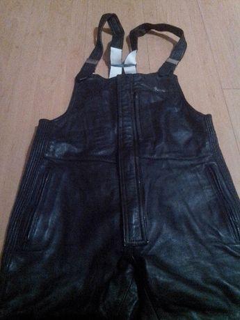 Spodnie skórzane motocyklowe (ogrodniczki) Harro, rozm 54