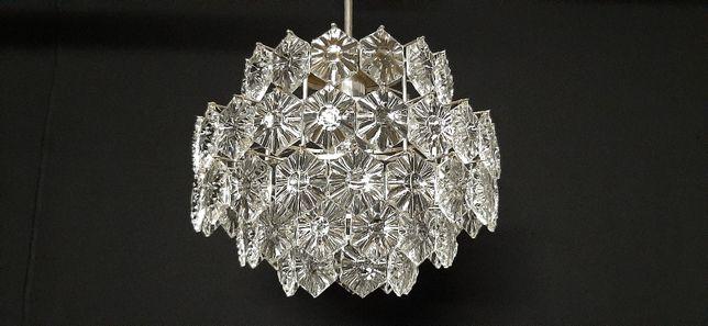 Żyrandol kryształowy 60-lata