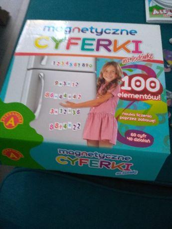jak nowe cyferki magnetyczne na lodówkę 100 elementów edukacyjne