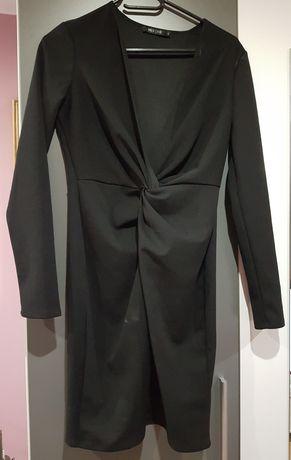 Dopasowana  czarna sukienka S