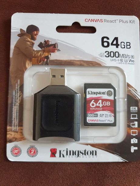 Kingston SDXC 64GB . 300mb/s