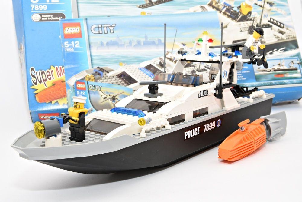 Zestaw LEGO Łódka Helikopter Policja Police Prezent 7899 CITY Klocki Włocławek - image 1