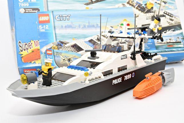Zestaw LEGO Łódka Helikopter Policja Police Prezent 7899 CITY Klocki