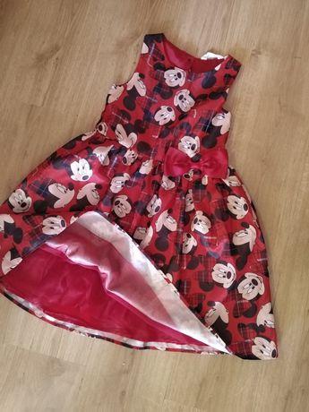 Sukienka 140 minnie czerwona z tiulem święta kokarda balowa h&m 9 10 l