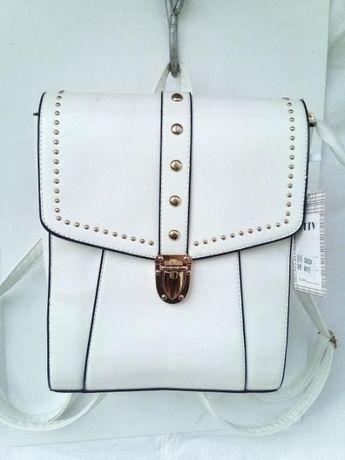 Белоснежный рюкзак-сумка
