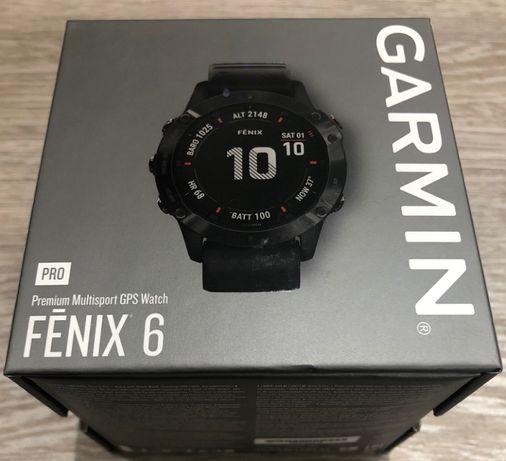 NOWY Garmin Fenix 6 Pro Czarny z czarnym paskiem