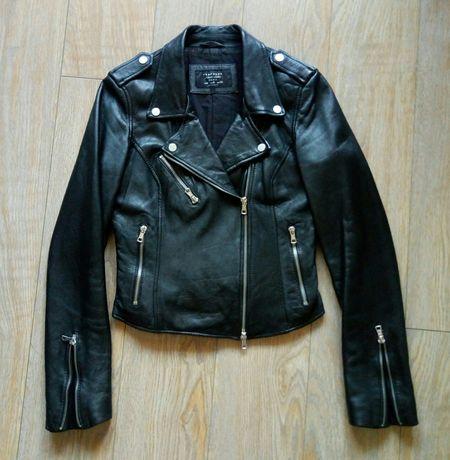 Zara кожаная куртка косуха