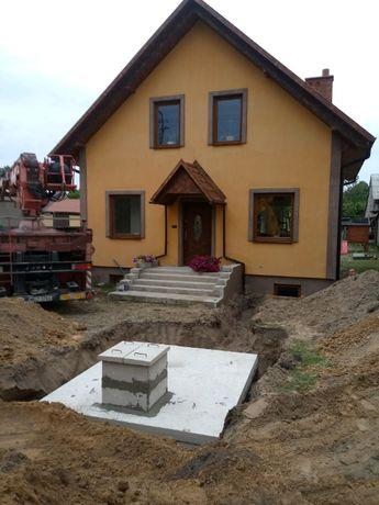 Szambo betonowe zbrojone 8000 litrów deszczówka Atest