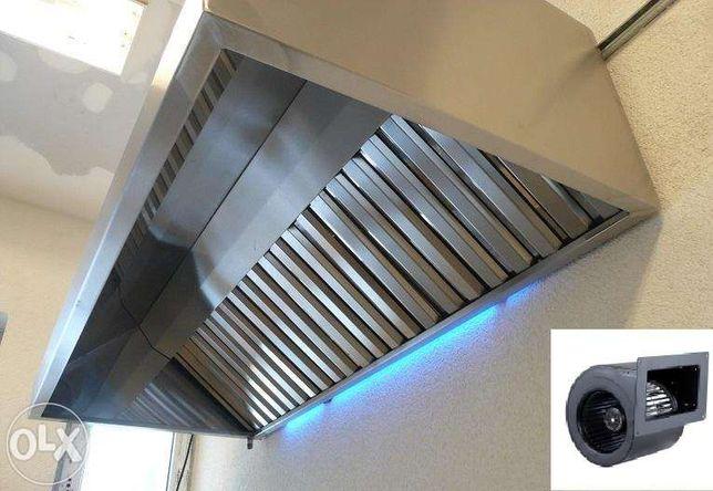 Okap Gastronomiczny 300x70x40 KAŻDY WYMIAR Turbina i Filtry