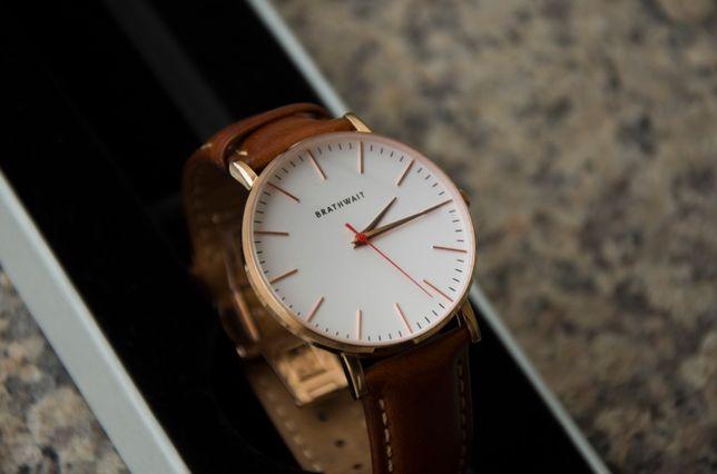 Elegancki zegarek, szafir, wr100, dwa paski, cal. SWISS Ronda quarz.