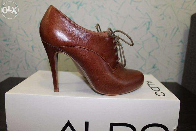 Ботинки кожаные ботильены туфли ALDO
