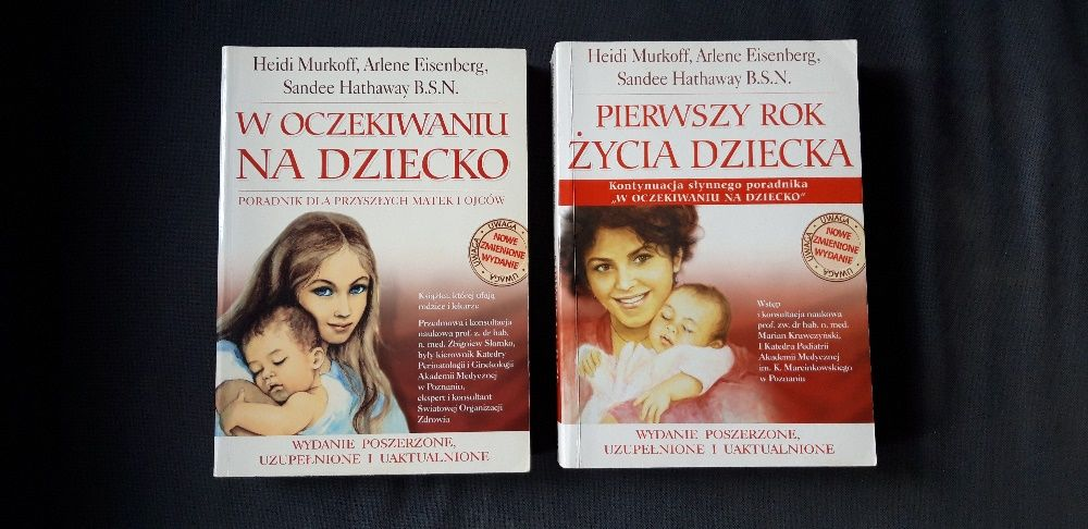 W oczekiwaniu na dziecko+ Pierwszy rok dziecka 2 ksiązki Wrocław - image 1