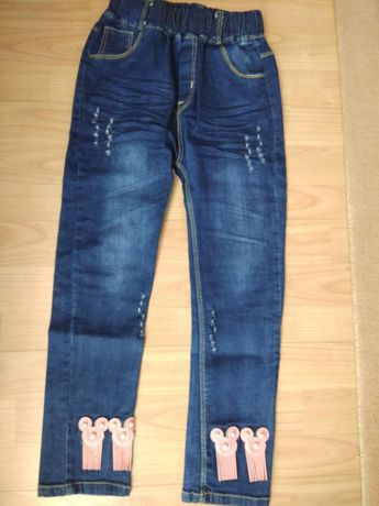 Новые джинсы, джеггинсы с Микки Маусом