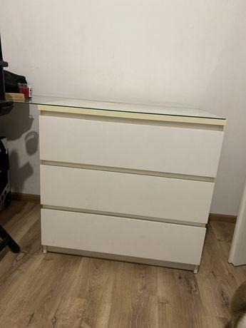 Komoda malm 3 szuflady biala