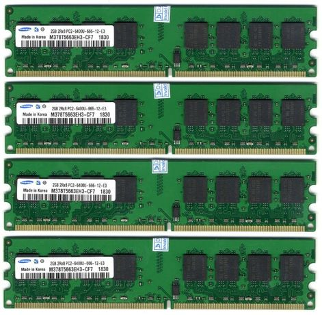 Оперативная память Samsung DDR2 2Gb 800MHz. Intel&AMD. Наборы.Новая!!!