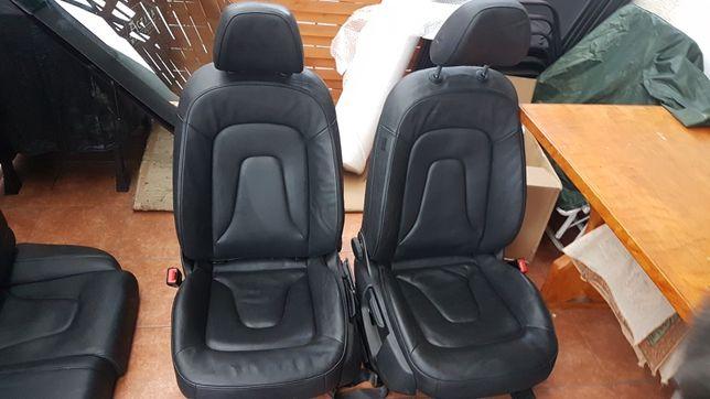 Fotele siedzenia skóra skórzane audi A5 5 drzwi grzane