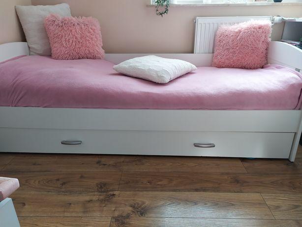 Łóżko białe z szufladą