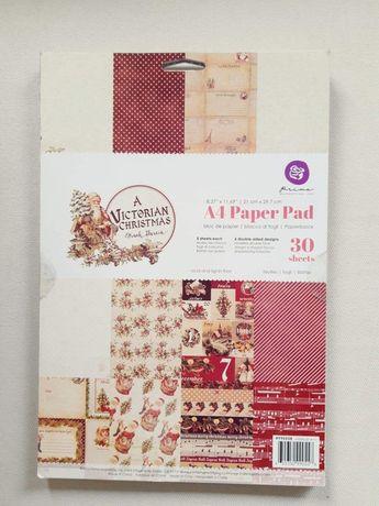 Papiery świąteczne A4  scrapbooking cardmaking Prima Marketing