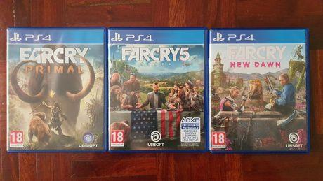 PS4 Far Cry Primal+ Far Cry 5+ Far Cry New Down. Usados em bom estado.