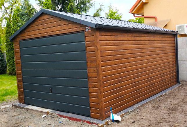 Garaż drewnopodobny 3.5x5 blaszak wiata 3x5 4x5 4x6 6x5 6x6 na wymiar