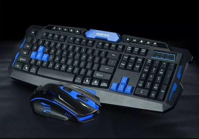 Комплект беспроводная игровая клавиатура и мышь UKC HK8100
