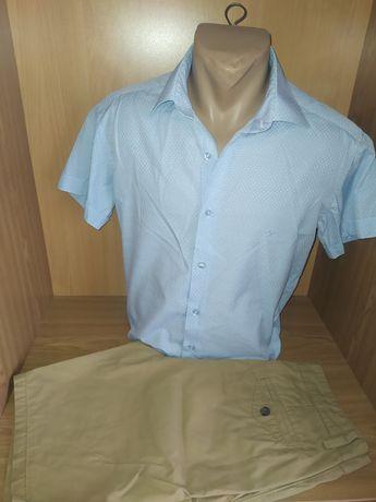 Рубашка мужская с коротким рукавом_Брендовая тенниска/Футболка