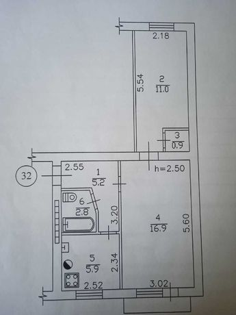 2-х комнатная квартира ,Будённовский район