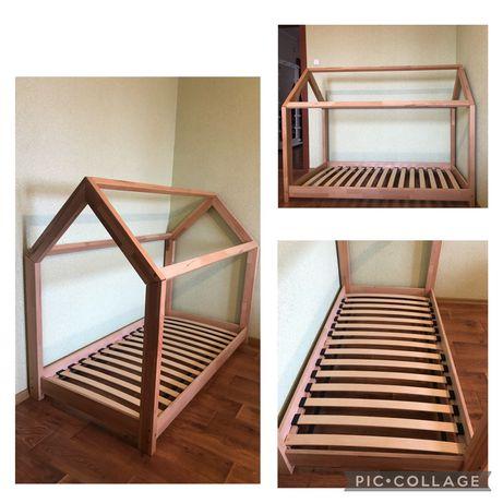 Детская кроватка-домик 80х160