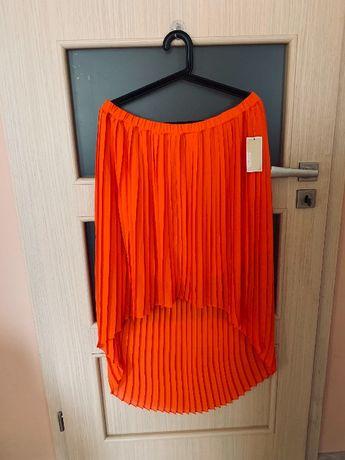 Spódnica plisowana Michael Kors L XL asymetryczna midi
