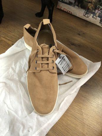 Новые замшевые мужские туфли, броги Zara man