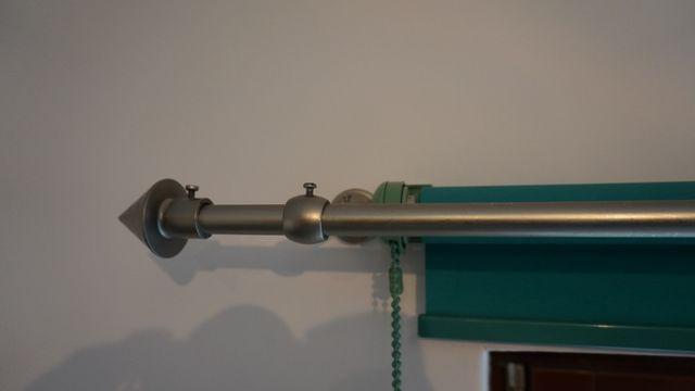 Okazja 2 karnisze srebrny mat o długości 240 cm