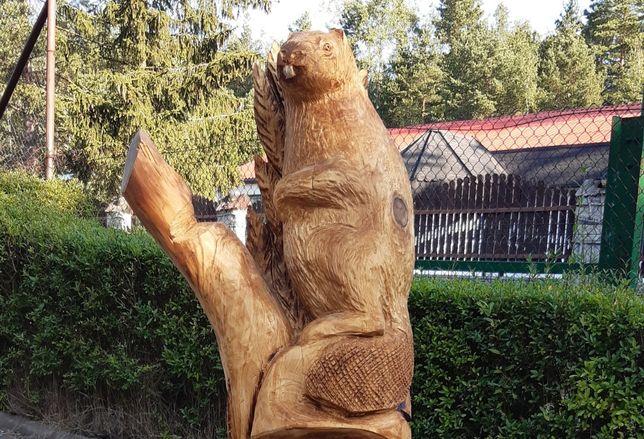 Rzeźba ogrodowa - bobry - rzeźba użytkowa